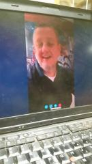 Skyping with daddy
