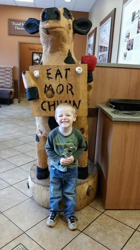 Titus at Chick Fil A